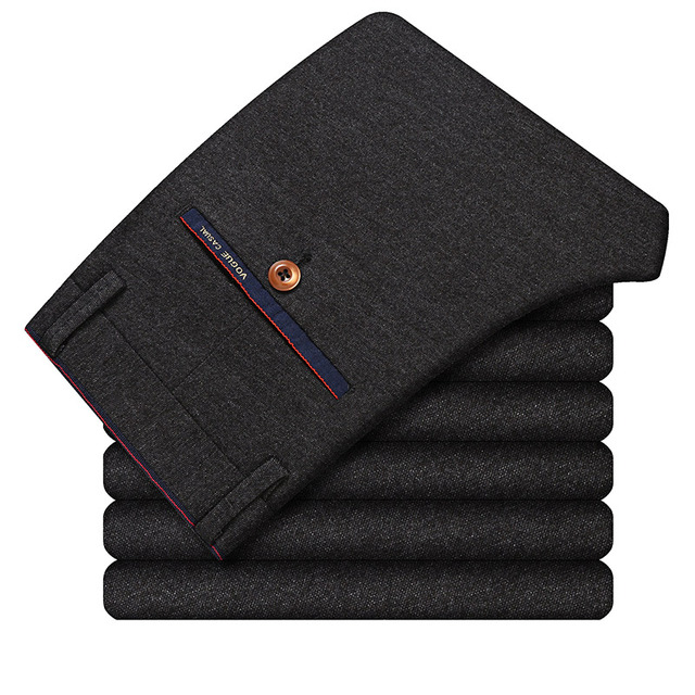 KEGZEIR 2018 Spring Winter Pants Men Fashion Stretch Men Trousers Casual Straight Slim Fit Pants For Men Pantalon Cargo Homme 5