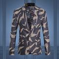 2016 Chaqueta de Los Hombres Trajes de Vestir Trajes de Hombre de Moda Casual Slim Fit de gran Tamaño de la Flor de Nylon Chaquetas y Abrigos Chaquetas De Vestir Traje de Los Hombres