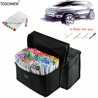 TOUCHNEW 30 40 60 80 168 Colors Art Marker Set Alcohol Based Copic Sketch Marker Pen
