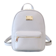 Women Backpack Small Size Black PU Leather Women's Backpacks Fashion School Girls Bags Female Back Pack Famous Brand mochilas