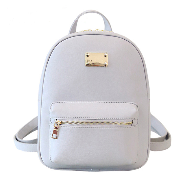 Women Backpack Small Size Black PU Leather Women s Backpacks Fashion School Girls  Bags Female Back Pack Famous Brand mochilas b74af8a18d306