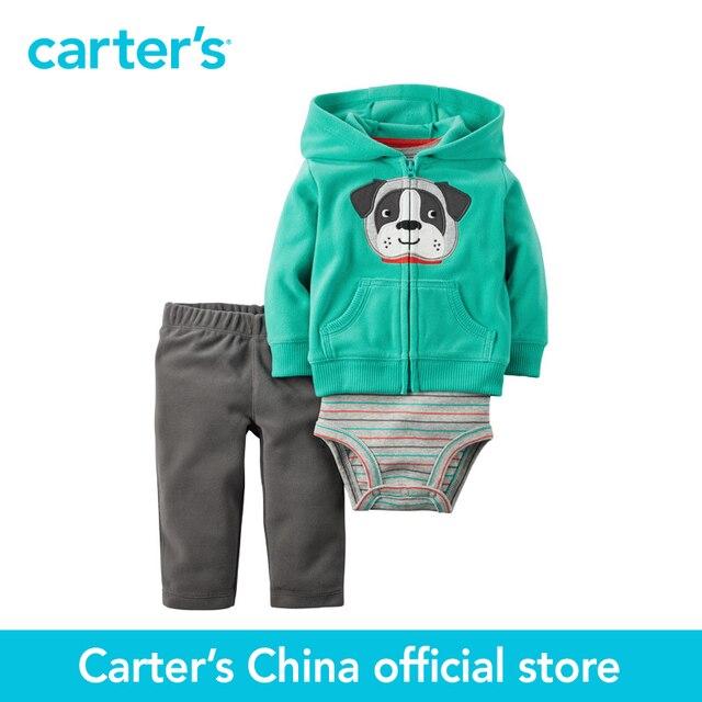 Картера 3 шт. детские дети дети Флис Кардиган Установить 121G765, продавец картера Китай официальный магазин