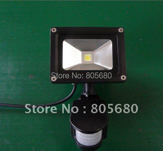free shipping promotion PIR 10w led floodlight/led sensor flood lamp/white/black housing optional