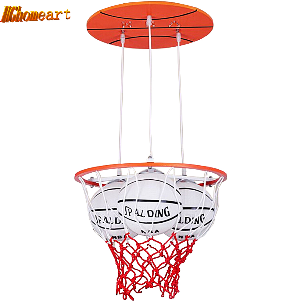 Hghomeart Simple Modern Personality BoyRoom Basketball Led pendant lights Warm Romantic Master Bedroom Creative Wooden LED Lamps hghomeart kids led pendant lights basketball academy lights cartoon children s room bedroom lamps lighting