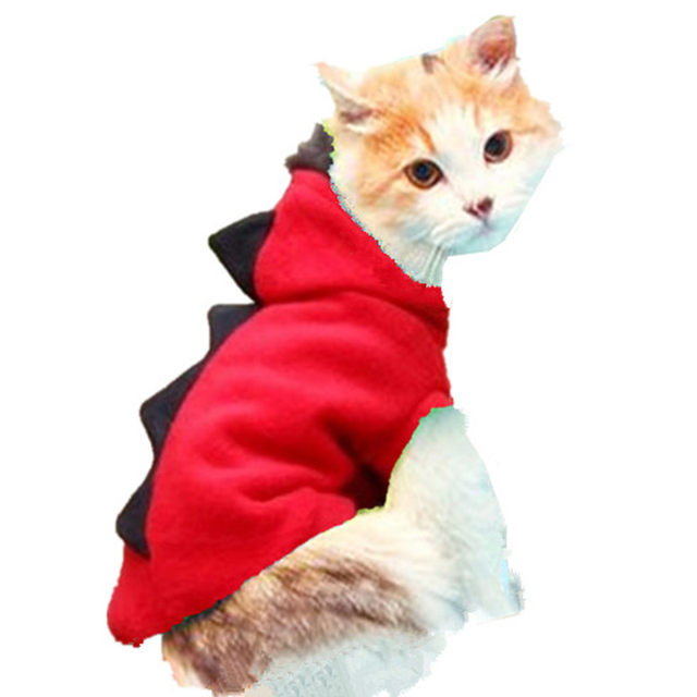 warm cat clothes pet dog costume suit halloween dragon clothing for cat halloween costume cat animals clothes hoodie coat 15s1