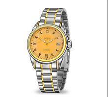 Boesi – 665 marca relojes de acero inoxidable, cinturón es hueco hacia fuera los relojes, ocio de moda calendario resistente al agua