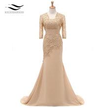 5f275fcbf66 Trois quarts demi manches dentelle robe formelle mère De la robe De mariée  avec veste pour
