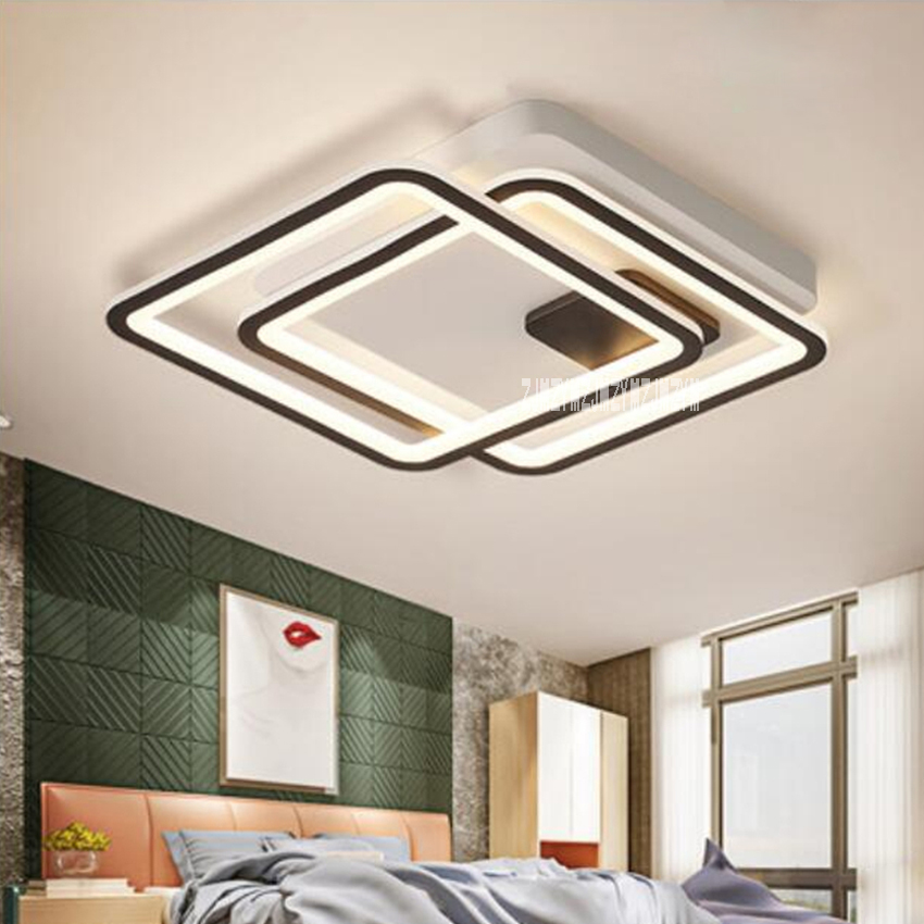 Nordic Creative Led Ceiling Lamp Square Modern LED Ceiling Lamp Personality Bedroom Study Room Lighting Ceiling Light 110V/220V|Ceiling Lights|   - title=