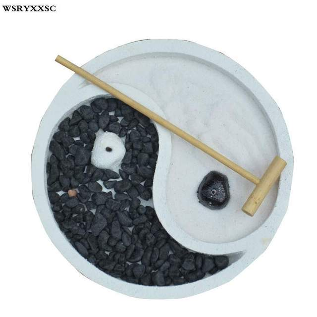 Zen Home Meditation Psychological Sand Table, Resin Crafts Decoration, Zen Sand Table Ornaments
