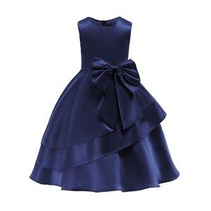 Image 2 - 2018 pembe kızlar prenses elbise çocuk akşam giyim çocuk örgün düğün parti Pageant elbise kızlar için balo elbisesi 7 8 9 yıl