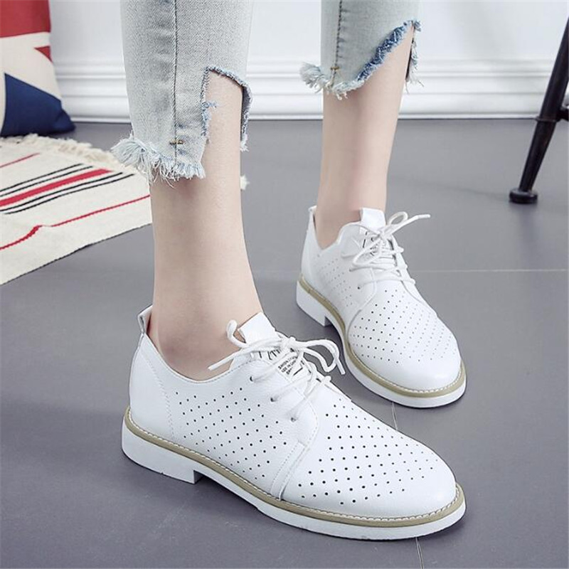 Women Flats new British Style Oxford Shoes Women Spring Soft Leather Casual Shoes Retro Lace Up Women flat Shoes cresfimix zapatos women cute flat shoes lady spring and summer pu leather flats female casual soft comfortable slip on shoes