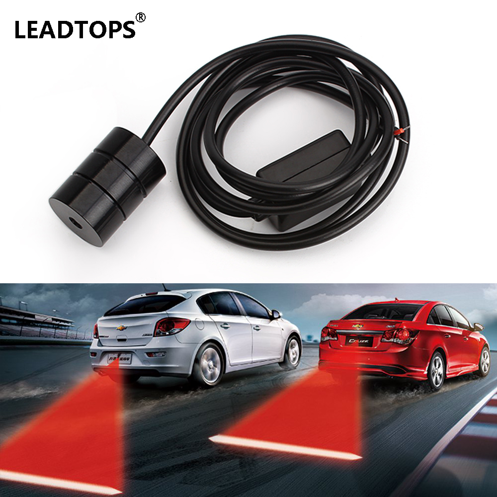 Warning Light Anti Collision Rear-end Car Laser Tail 12v Led car Fog Light Auto Brake auto Parking Lamp Rearing car styling CE 3w rear end laser tail fog light auto brake parking lamp warning light for car black