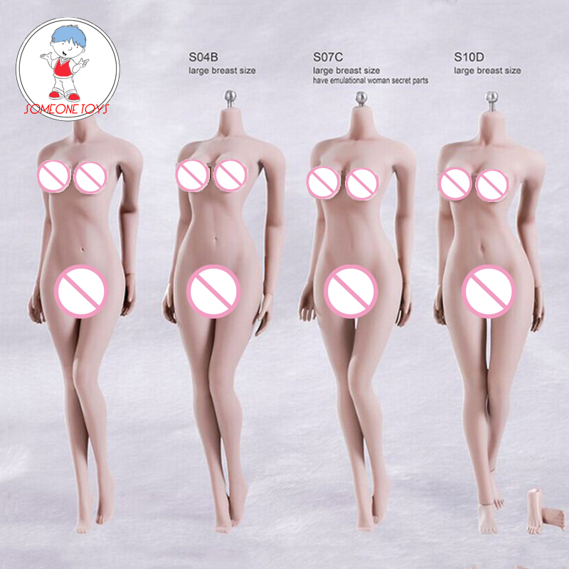 Phicen TBLeague 1/6 Scale Female Seamless Body Figure S01A S04B S07C S10D Pale Color Woman Action Figure Model
