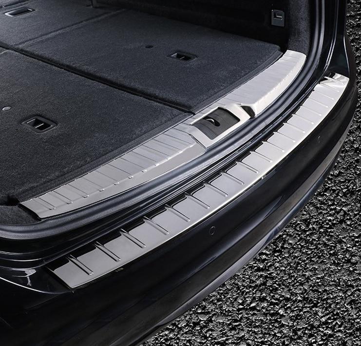 1 шт. для sharan 2012 2018 задний хвост защита для ящика подстилка в багажник защитный пластина порожек нержавеющая сталь