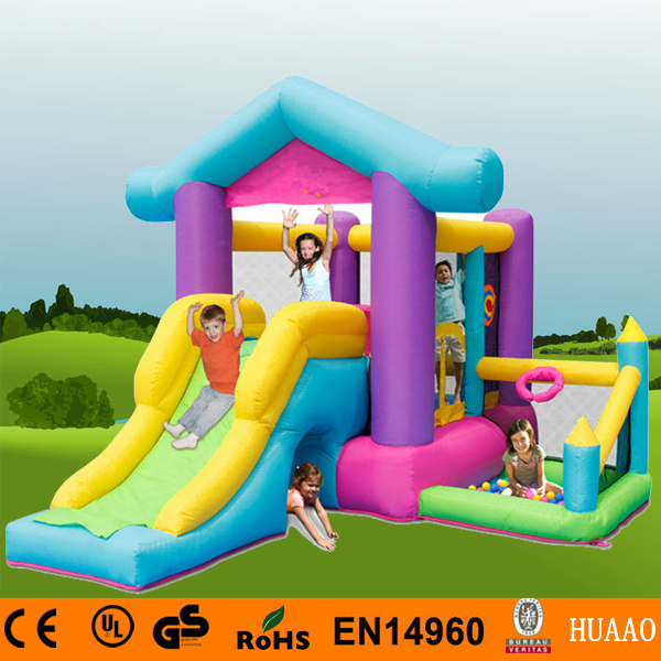Free Shipping Happy Hop Inflatable House Bouncer Pool Inflatable Indoor Playground with Free CE blower yard free shipping in stock tiny bouncy castle pretty inflatables slide bouncer with blower kids playground