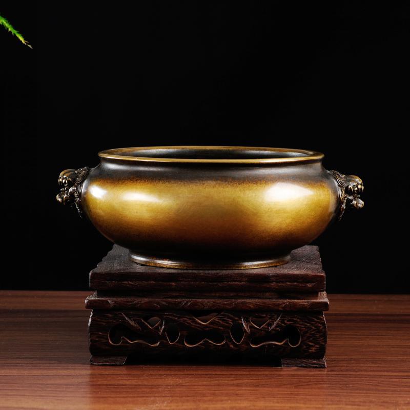 Nouvelle bobine d'encens en laiton King size de four en cuivre four d'entraînement oreilles de lion rituel bouddhiste de l'encens est recommandé - 2