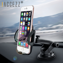 !ACCEZZ Adjustable Car Phone Holder Support Bracket Universal 4.0-6.0 inch 360 Degree Rotating Glass Center Control Stand