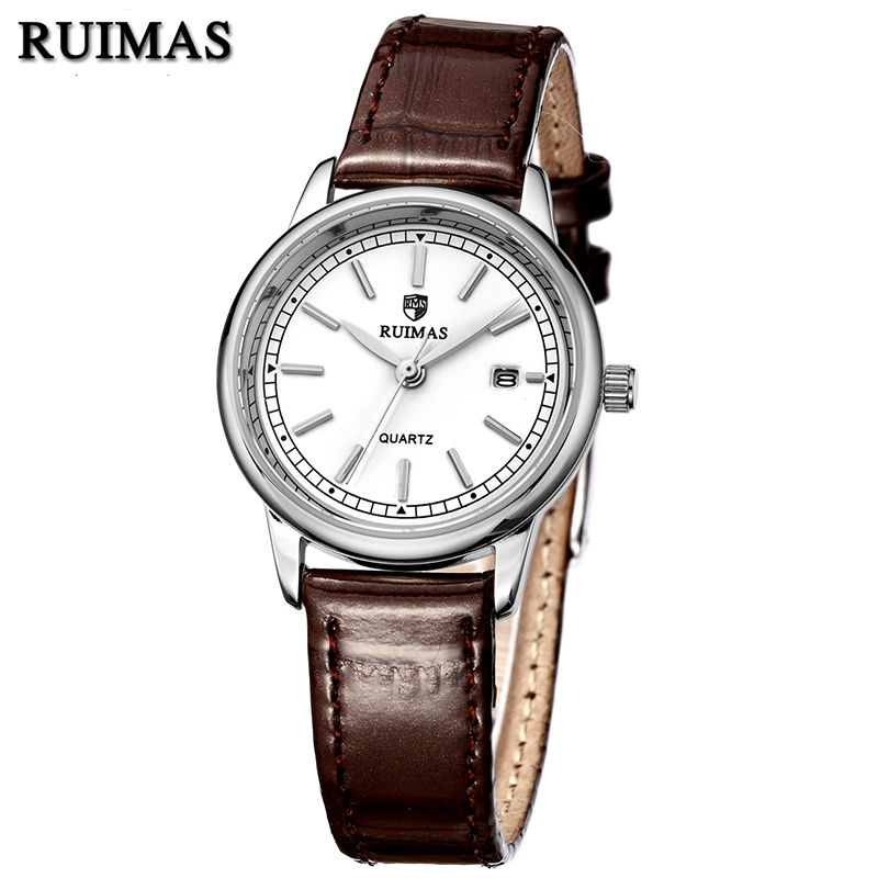 RUIMAS Fashion Leather Quartz Watch Top Brand Luxury Women Watches Ladies Clock Relogio Feminino Montre Femme Lover Wristwatches  ruimas original ladies watch top brand luxury quartz women watches reloj mujer montre femme for female relogio feminino