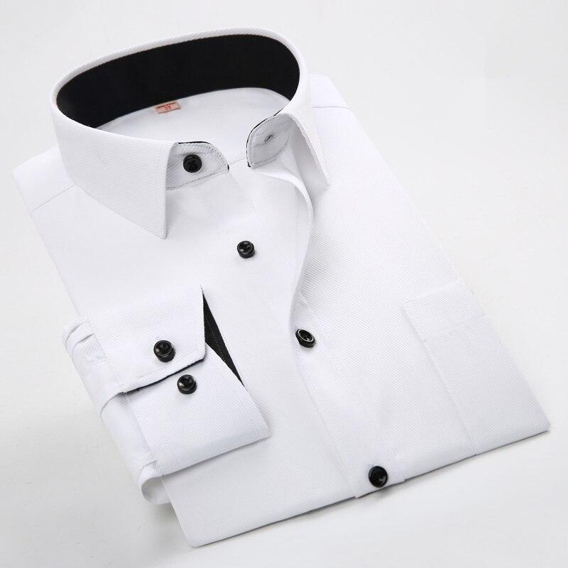 Men Long Sleeved Shirt Slim Fit Style Des