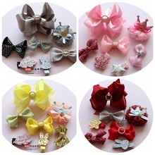 1 set bowknot baby girls kids hair clips pin bows headwear hairpin accessories for children hair ornaments hairclip headdress
