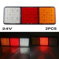 kongyide Car Light 2PCS 24V 108 LED Tail Light Truck Trailer Rear Indicator Stop Reverse Signal Lamp Rectangular Tail Light je11