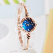 Top Women s Watch Julius Japan Quartz Hours Clock Fashion Bracelet Cutting Shell Rhinestone Birthday Girl