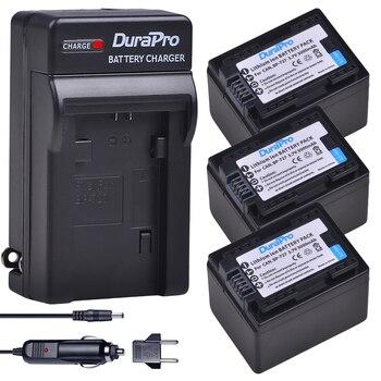 3x 3000mAH BP-727 BP 727 Camera Battery + Car Charger for Canon BP-709,BP-718,BP-727,CG-700,VIXIA HF M50,M51,M52,M560,R300,R306