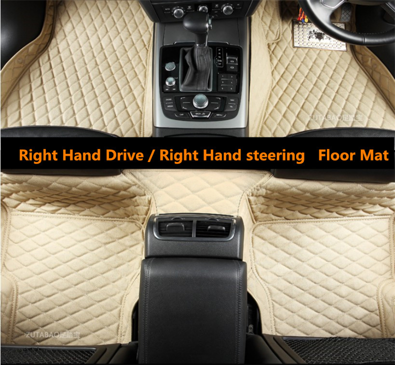 Auto Floor Mats For Land Rover All Model Range Rover Evoque Range Rover SPORT Right Hand Drive High Quality Embroidery Leather leather car seat covers for land rover discovery sport freelander range sport evoque defender car accessories styling