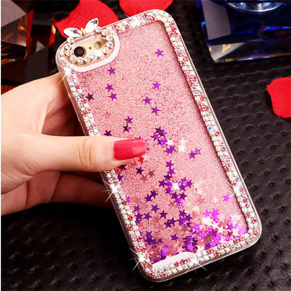 reputable site d3d9a a2749 US $7.99 |Case for iPhone 5 5S Handmade Liquid Glitter diamond Sand capa  Quicksand Star Bling colorful Rhinestone Hard Back Cover DIY-in Rhinestone  ...