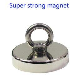 Ferroboro de neodimio poderoso imán fuerte, colgante circular de alta resistencia rubidio magnetite de gran tamaño de pesca magneti