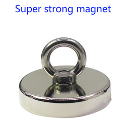 Neodímio ferroboro ímã poderoso forte, pingente circular de grande resistência rubidium magnetite grande tamanho de pesca magneti
