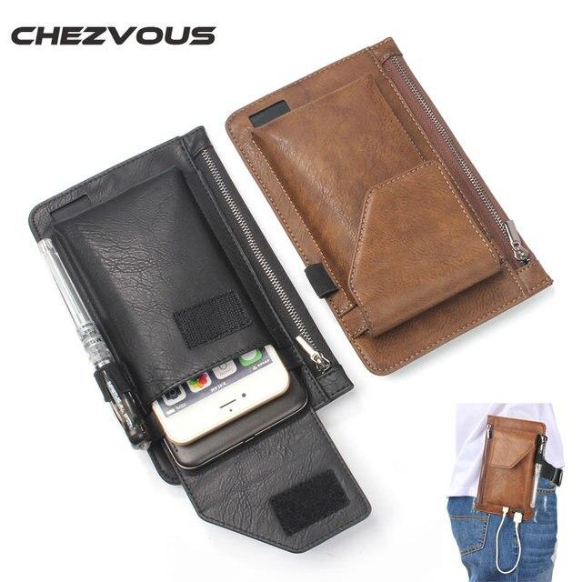 Multi Fonction Double Poche Et Porte Monnaie Pour Liphone Plus - Porte telephone ceinture