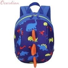 ФОТО boys girls backpack top quality baby shoulder bag unisex kids dinosaur pattern animals toddler school bag gift mochila 17aug8