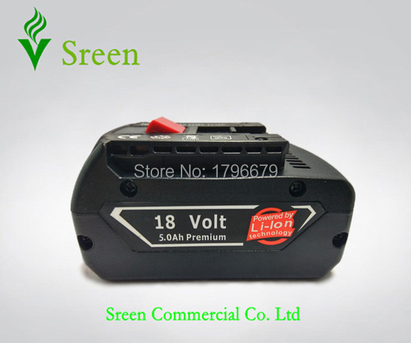 Подробнее о 5000mAh Lithium Ion Rechargeable Power Tool Battery Packs Replacement for Bosch 18V BAT609 BAT618 2 607 336 170 2 607 336 169 bosch 250мм 2 609 390 576