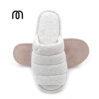 Millffy novo pé confortável simplesmente escovado chinelos home indoor chinelos de algodão casal mudo peixe dedo aberto chinelos