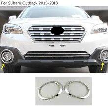 Автомобиль Стайлинг Обложка детектор ABS Chrome передние противотуманные свет лампы обрезки 2 шт. для Subaru Outback 2015 2016 2017 2018