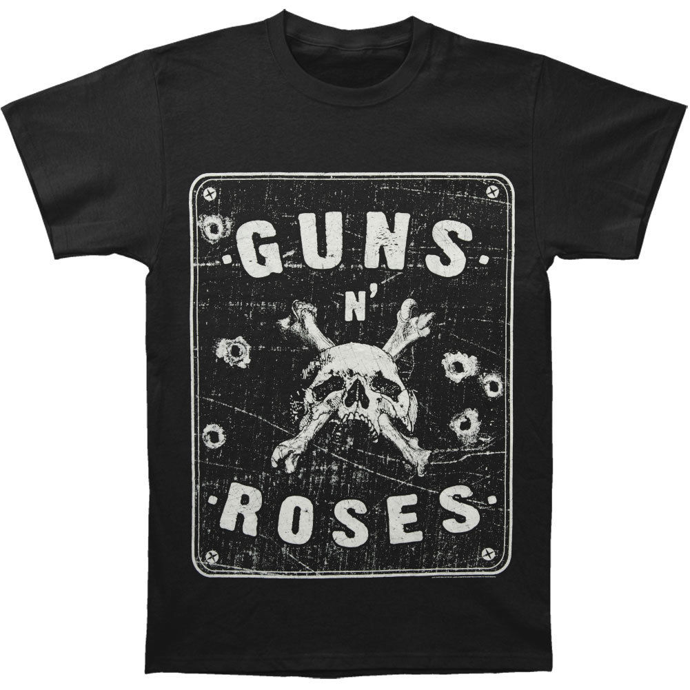 Guns N Roses Mens Street Sign Spencer T-shirt Black