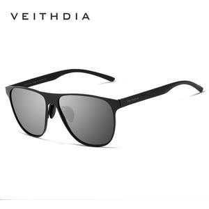 Image 5 - Veithdia marca designer unissex aço inoxidável tr90 men óculos de sol polarizados uv400 lente óculos de sol para mulher gafas de sol 3920
