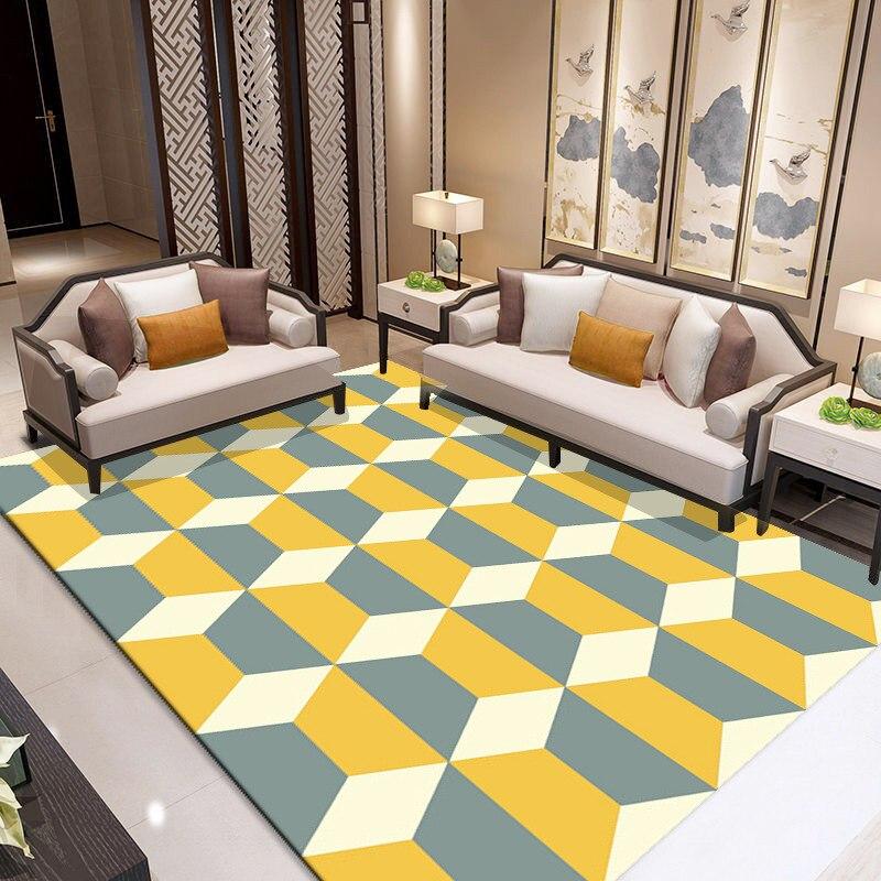 Простые современные Nordic ковры Гостиная Спальня Абсорбент противоскольжения лохматый ковер прикроватной тумбочке прямоугольный Кофе стол...