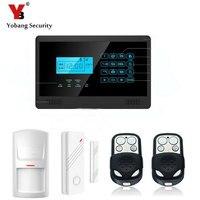 YobangSecurity Wireless GSM SMS Home Burglar Security Alarm System Home Emergency Alert Security Alarm System Door Sensor Kit
