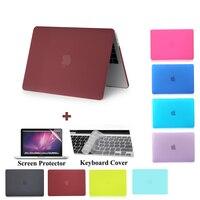 Matte Laptop Case For Apple MacBook Air Pro Retina 11 12 13 15 For Mac Book