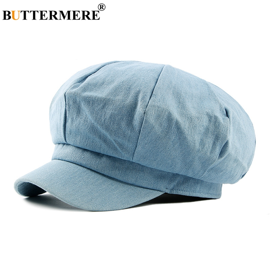 BUTTERMERE Men Denim Newsboy Caps Female Spring Vintage Painters Hat  Octagonal Driving Casual Gatsby Cotton Ivy Cap And Hats-in Newsboy Caps  from Apparel ... f48eea7639cb