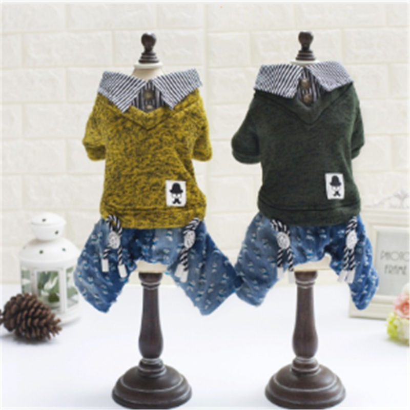 Warm Dog Clothes Puppy Outfit Pet Cat Jacket Coat Soft Sweater Clothing For Small Dogs Chihuahua in Dog Coats Jackets from Home Garden