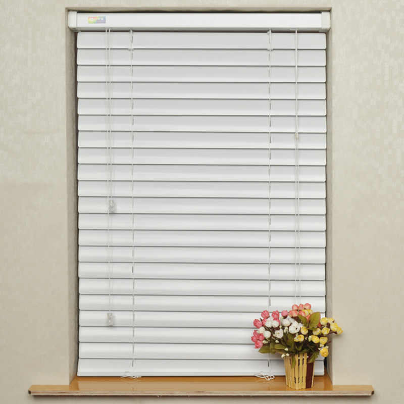 Free Shipping Rope Window Blinds 50MM Aluminum Venetian Blinds With Aluminum Rail Lower Open Horizontal Fan Blind Metal