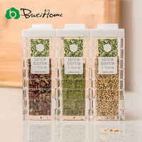 Butihome Plastic Spice Jar Kitchen Seal And Transparent Seasoning Bottle Salt And Pepper Spray Shaker Spice
