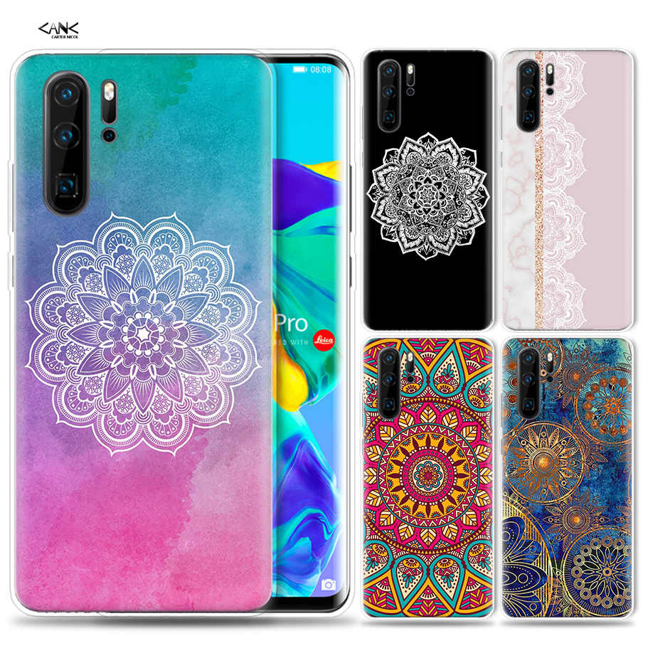 Case for Huawei P30 P20 P10 P9 Mate 10 20 Lite Pro Mobile Cell Phone Bag P Smart Z 2019 Plus Floral Paisley Mandala P8 P30Pro P2