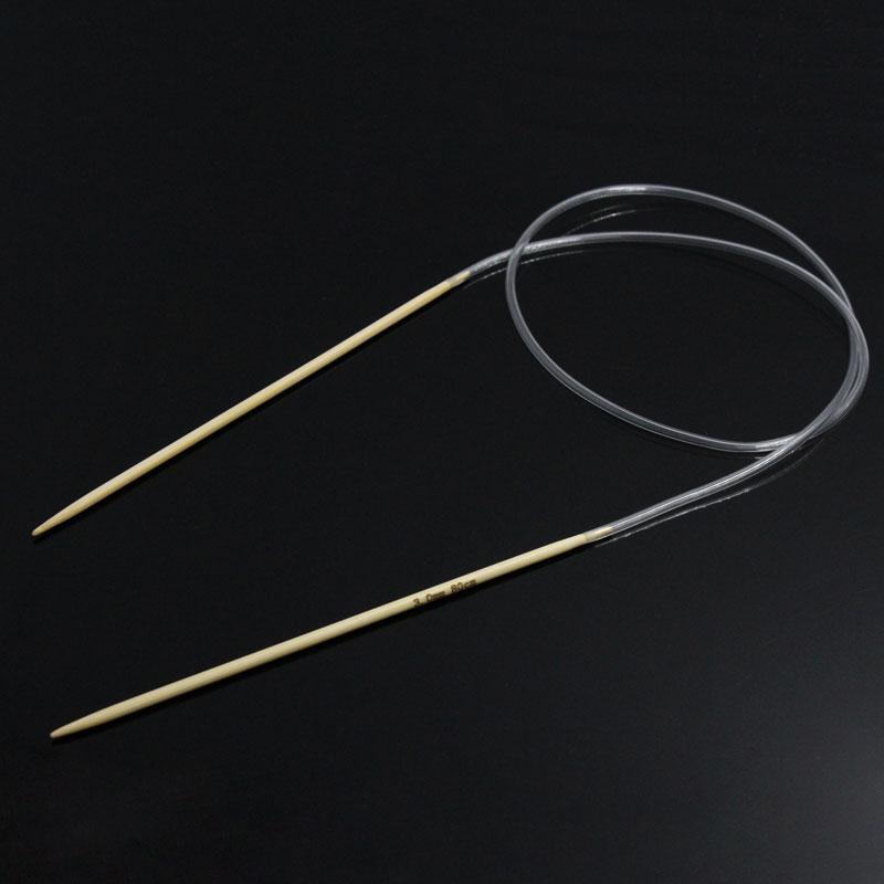 Bamboo 80cm Circular Knitting Needle 3mm,1 Pair New
