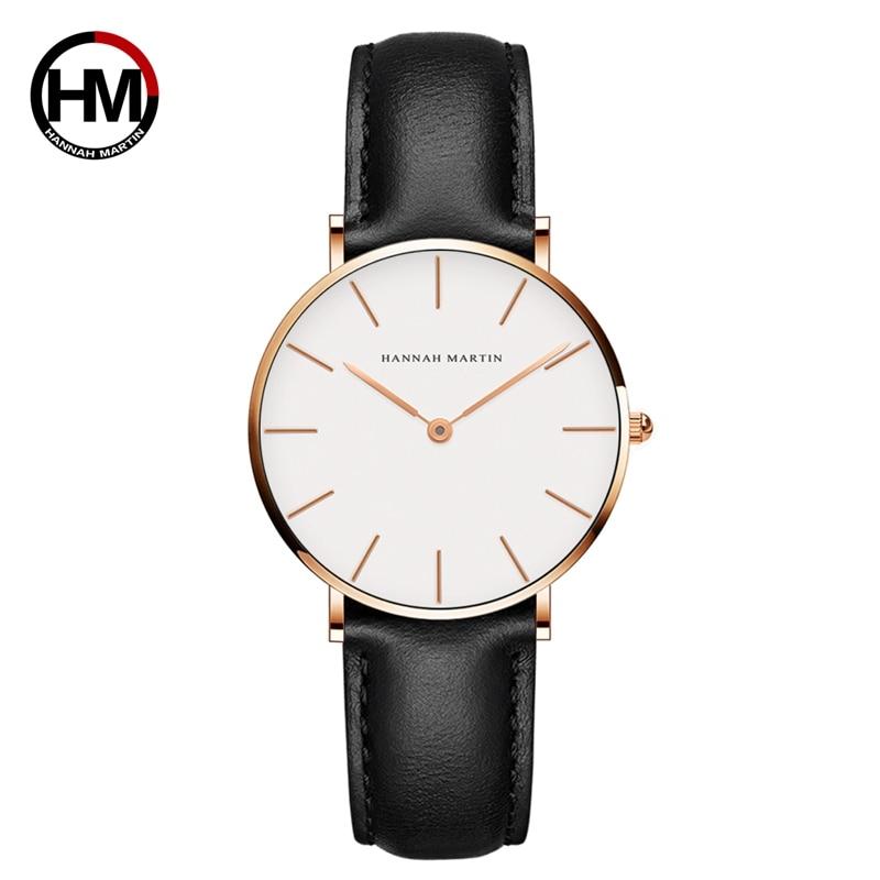 все цены на Japan Quartz Movement Women Fashion Watch Leather Strap Ladies Wristwatches Bracelet Brand Waterproof watch relogio feminino