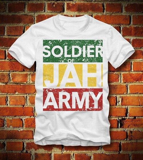 100% algodón para Camisas o-cuello gráfico manga corta soldado de ... 8ad0febdadb