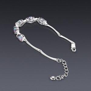 Image 3 - JewelryPalace Natural Mystic Topaz 925เงินสเตอร์ลิงสร้อยข้อมือเทนนิสอัญมณีสร้อยข้อมือผู้หญิงเงิน925ทำ